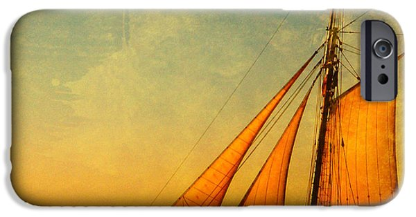 Full Sail iPhone Cases - The America Nr 3 iPhone Case by Susanne Van Hulst