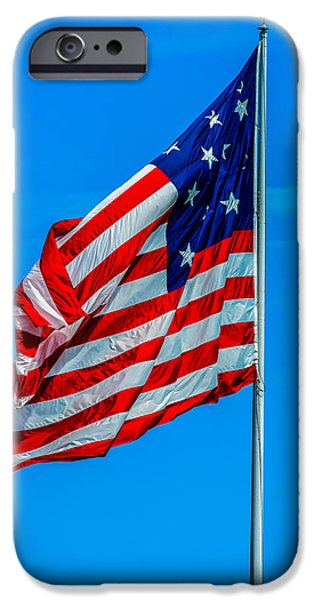 American Flag iPhone Cases - The American Flag iPhone Case by Jennifer Wick