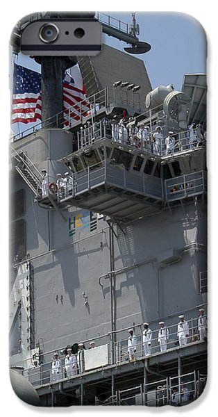 Iraq iPhone Cases - The Amphibious Assault Ship Uss Boxer iPhone Case by Stocktrek Images