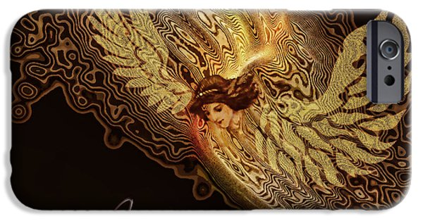 Religious iPhone Cases - The Angel cometh iPhone Case by Valerie Anne Kelly