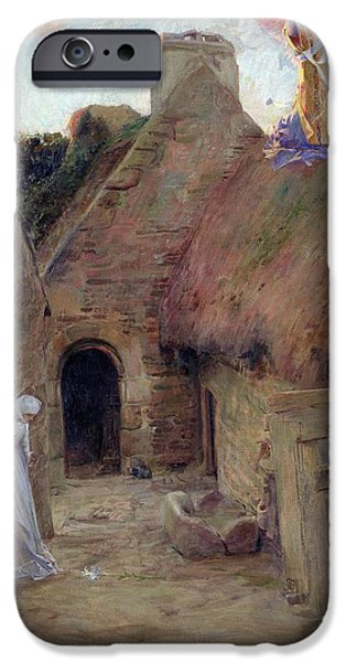 Village iPhone Cases - The Annunciation iPhone Case by Luc Oliver Merson
