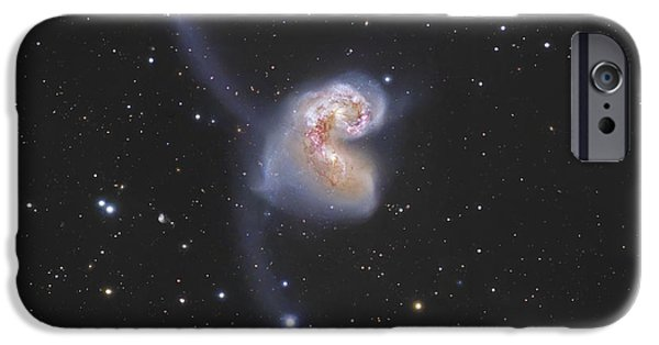 Stellar iPhone Cases - The Antennae Galaxies iPhone Case by Robert Gendler