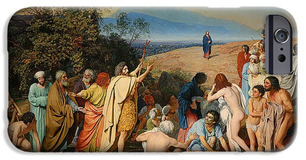 The Followers iPhone Cases - The Apparition Of The Messiah  iPhone Case by Alexander Andreyevich Ivanov