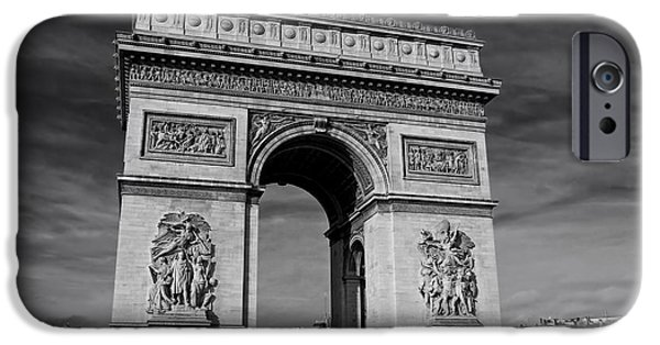Bas Relief Reliefs iPhone Cases - The Arc de Triomphe iPhone Case by Lilien