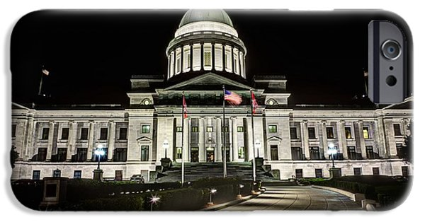 Arkansas iPhone Cases - The Arkansas State Capitol Building iPhone Case by JC Findley
