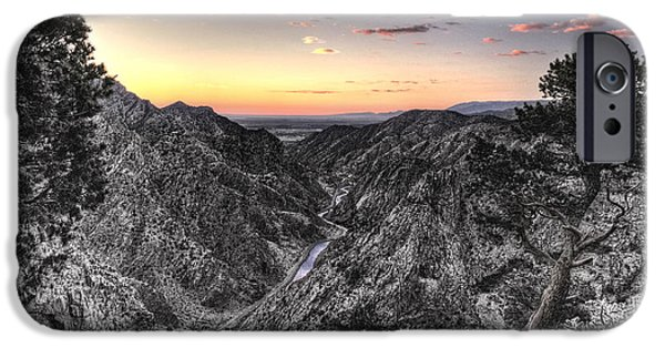 Drama iPhone Cases - The Arkansas Through Royal Gorge iPhone Case by William Fields
