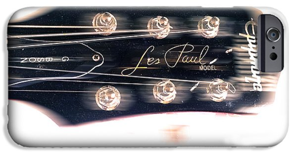 Epiphone Guitar iPhone Cases - Les Paul Epiphone  iPhone Case by Steven  Digman