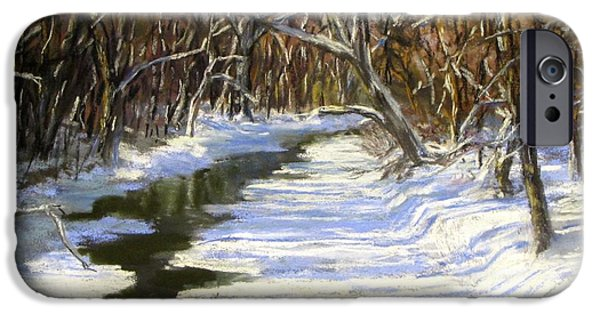 Concord. Winter iPhone Cases - The Assabet River in winter iPhone Case by Jack Skinner