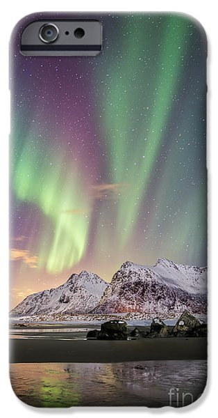 Recently Sold -  - Norway iPhone Cases - Skagsanden Aurora Revealed iPhone Case by Lance Warley