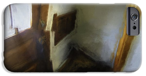 Photo Collage iPhone Cases - The Back Stairs iPhone Case by Scott Norris