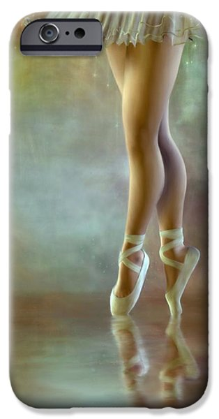 Ballerina Artwork iPhone Cases - The Ballerina iPhone Case by AnaCB Studio