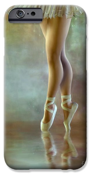 Ballet Dancers iPhone Cases - The Ballerina iPhone Case by AnaCB Studio