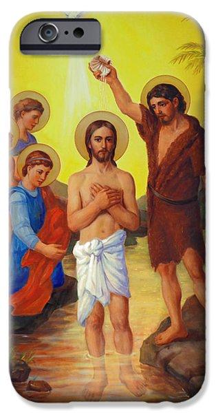 The Baptism of Jesus Christ iPhone Case by Svitozar Nenyuk