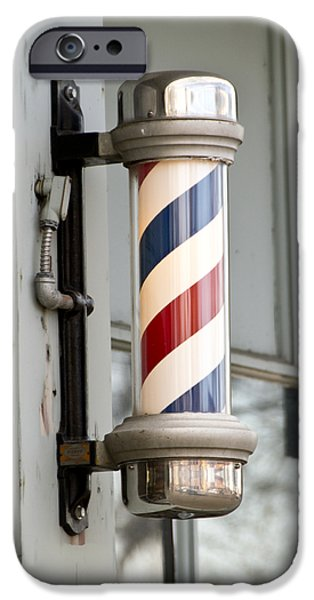 The Barber Shop 4 iPhone Case by Angelina Vick
