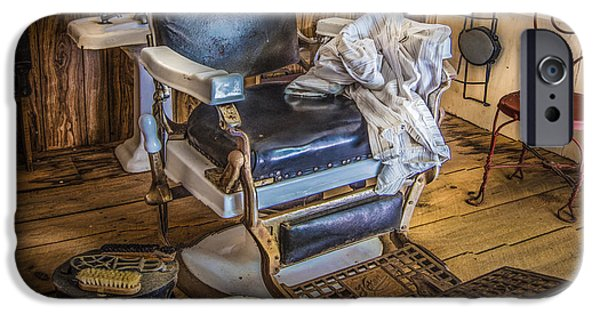Antiques iPhone Cases - The Barbers Chair iPhone Case by Debra and Dave Vanderlaan