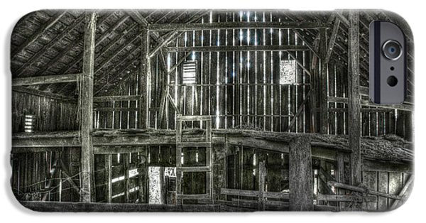 Old Digital Art iPhone Cases - The Barn iPhone Case by Dan Stone