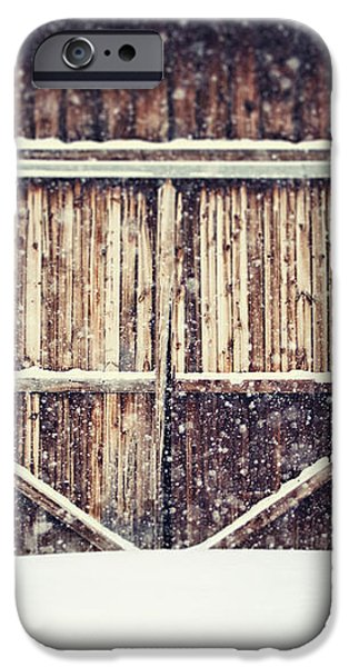 The Barn in Winter iPhone Case by Lisa Russo