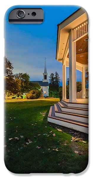 Boston Ma iPhone Cases - The Baron Hugo gazebo on the ground of Town Hall in Milton, Massachusetts iPhone Case by Brian MacLean