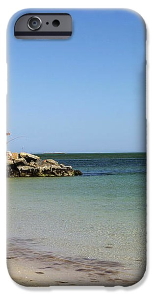 The Bass River Jetty South Yarmouth Cape Cod Massachusetts iPhone Case by Michelle Wiarda