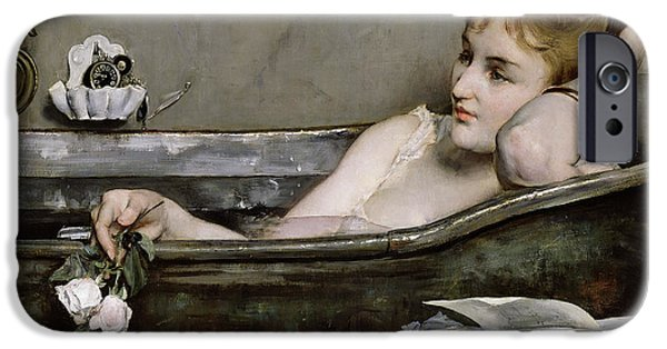 Daydream iPhone Cases - The Bath iPhone Case by Alfred George Stevens