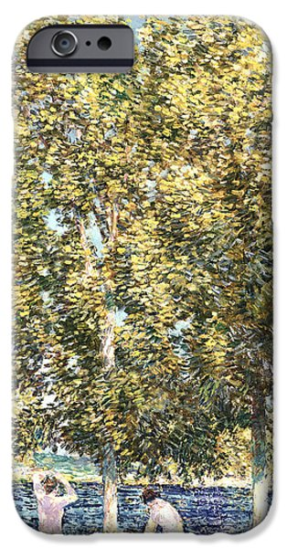 Childe iPhone Cases - The Bathers iPhone Case by Childe Hassam