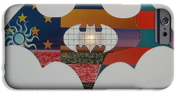 Batman Print iPhone Cases - The Batman Signals 7 iPhone Case by Robert Margetts