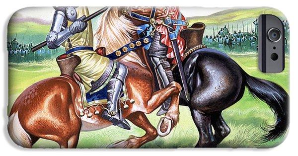 Ruler iPhone Cases - The Battle of Bannockburn iPhone Case by Ron Embleton