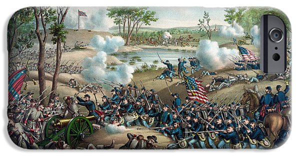 Campaign iPhone Cases - The Battle of Cold Harbor iPhone Case by War Is Hell Store