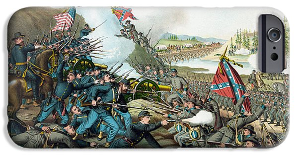 Franklin iPhone Cases - The Battle of Franklin - Civil War iPhone Case by War Is Hell Store