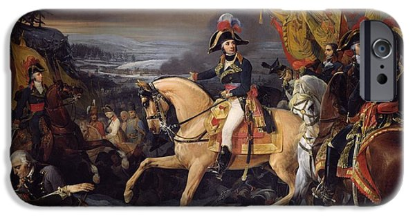 The Horse iPhone Cases - The Battle of Hohenlinden iPhone Case by Henri Frederic Schopin