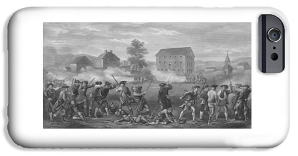 American Revolution iPhone Cases - The Battle of Lexington iPhone Case by War Is Hell Store