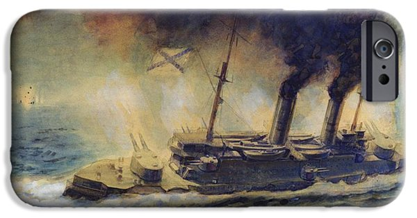 Ww1 iPhone Cases - The Battle of the Gulf of Riga iPhone Case by Mikhail Mikhailovich Semyonov