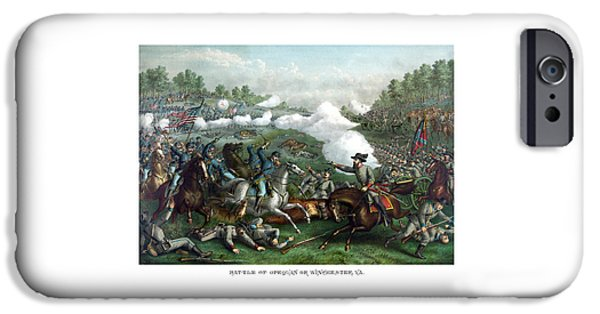 American History Drawings iPhone Cases - The Battle of Winchester iPhone Case by War Is Hell Store