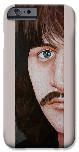 Beatles iPhone Cases - The Bealtes Ringo Starr iPhone Case by Vic Ritchey