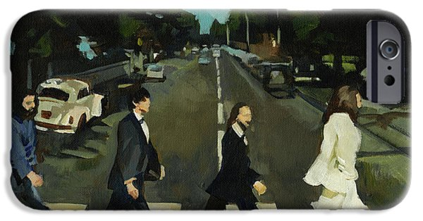 Beatles iPhone Cases - The Beatles Abbey Road iPhone Case by Lorna Marie Stephens