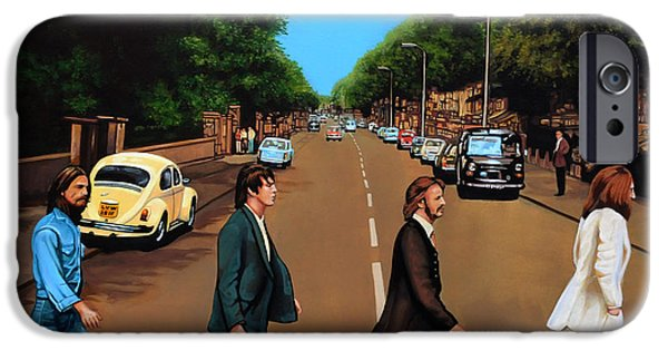 Realistic Art iPhone Cases - The Beatles Abbey Road iPhone Case by Paul Meijering