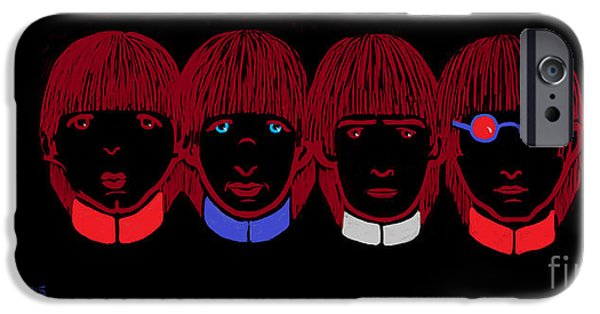 Beatles iPhone Cases - The Beatles iPhone Case by Celeste  Acevedo Garat
