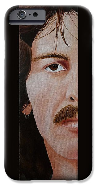 Beatles iPhone Cases - The Beatles George Harrison iPhone Case by Vic Ritchey