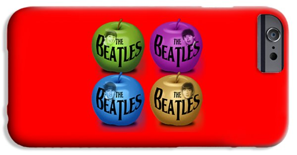 Fab Four iPhone Cases - The Beatles iPhone Case by Mal Bray