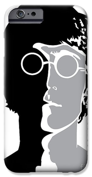 Digital Artwork iPhone Cases - The Beatles No.08 iPhone Case by Caio Caldas
