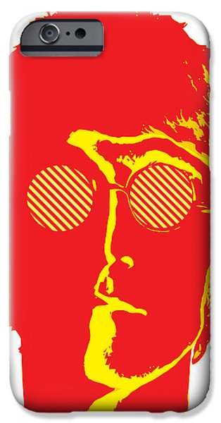 Beatles Digital Art iPhone Cases - The Beatles No.09 iPhone Case by Caio Caldas