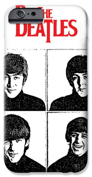 Beatles Digital Art iPhone Cases - The Beatles No.12 iPhone Case by Caio Caldas