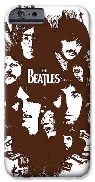 Beatles Digital iPhone Cases - The Beatles No.15 iPhone Case by Caio Caldas