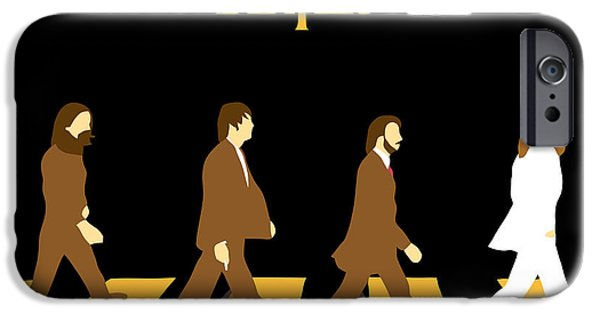 Beatles Digital Art iPhone Cases - The Beatles No.19 iPhone Case by Caio Caldas