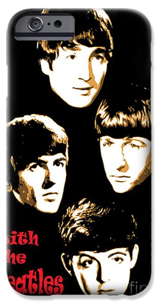Beatles iPhone Cases - The Beatles No.20 iPhone Case by Caio Caldas