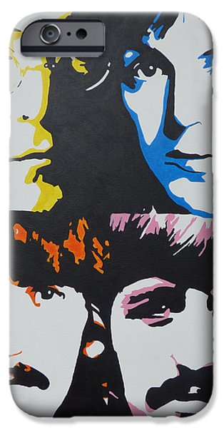 Beatles iPhone Cases - The Beatles Pop Art Urban Art Music Art iPhone Case by Nick Randolph