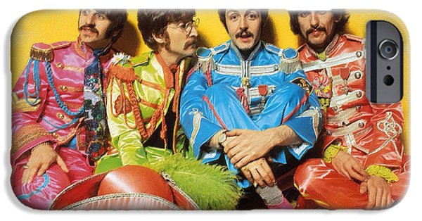 Fab Four iPhone Cases - The Beatles Sgt. Peppers Lonely Hearts Club Band Painting 1967 Color iPhone Case by Tony Rubino