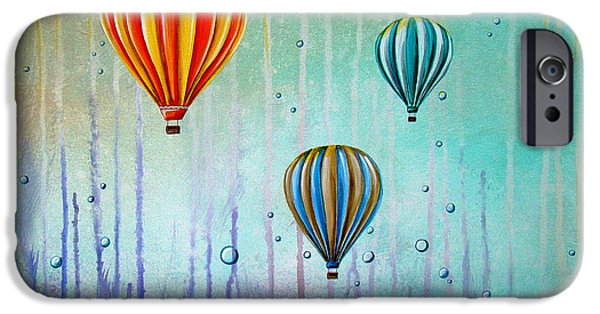 Hot Air Balloon iPhone Cases - The Beautiful Briny Sea iPhone Case by Cindy Thornton