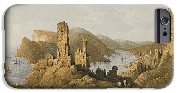 Beautiful Scenery Paintings iPhone Cases - The Beautiful Scenery And Chief Place Of Interest Throughout The Crimea iPhone Case by Celestial Images