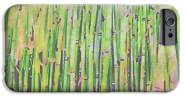 Bamboo Fence iPhone Cases - The Beauty of a Bamboo Fence iPhone Case by Angela A Stanton